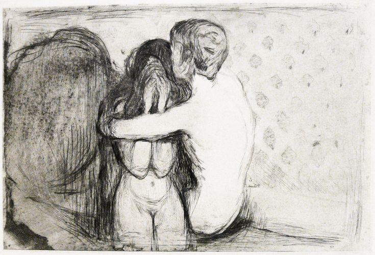 Edvard Munch / Trøst (Consolation) (1894)