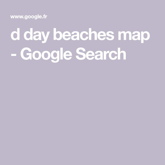 d day beaches map - Google Search