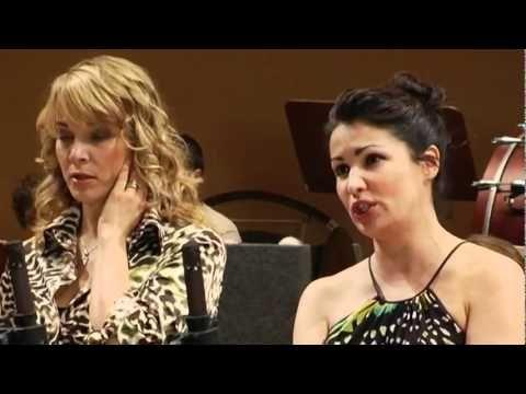 """Soprano Anna Netrebko & Elina Garanca (mezzosoprano) sing Offenbach's Barcarolle (from opera Le Contes d'Hoffmann = """"Tales of Hoffmann"""")."""