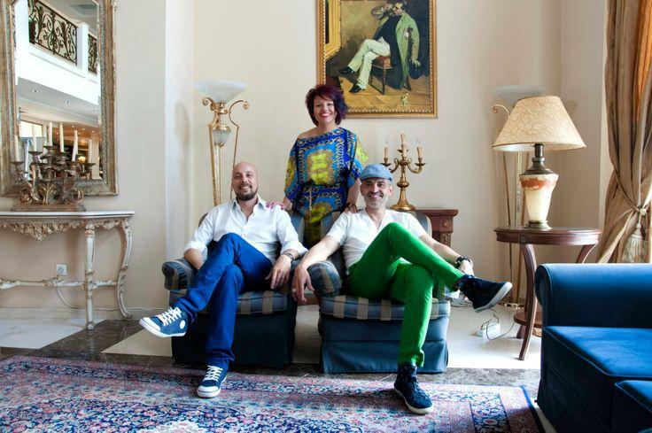 Έλενα Γεωργακάκη  Χρήστος Λεβαντής (αριστ.)  Στράτος Κατσαμπούκας (δεξιά)  Team Hair Plus Academy | Grand Hotel Palace| 16.06.2014