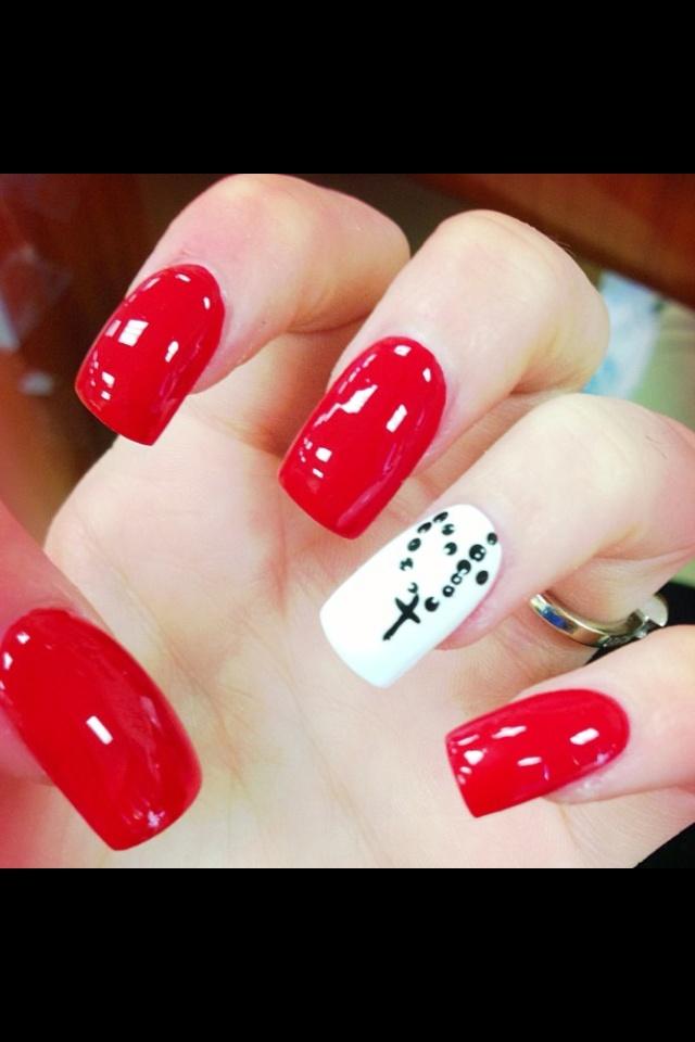 Cool Rosary nails!