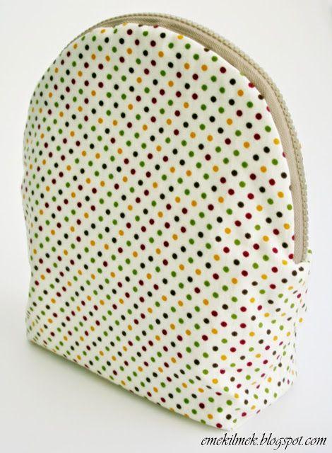 kozmetik çantası anlatımlı yapımı, tutorial how to sew kosmetik bag