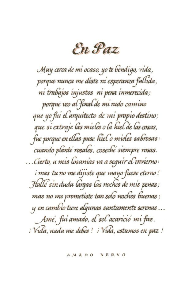 En Paz Amado Nervo Juan Crisóstomo Ruiz de Nervo