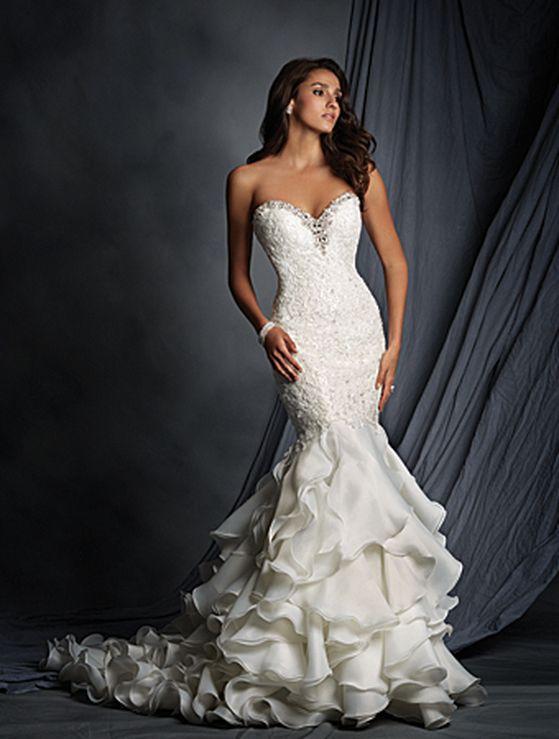 269 best wedding dresses images on Pinterest | Bridal gowns, Wedding ...