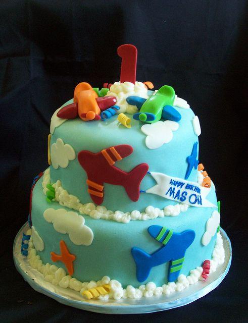 Airplane 1st Birthday cake | Flickr - Photo Sharing!