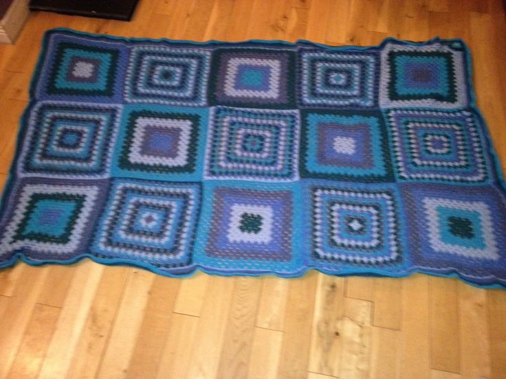 Many shades of blue blanket