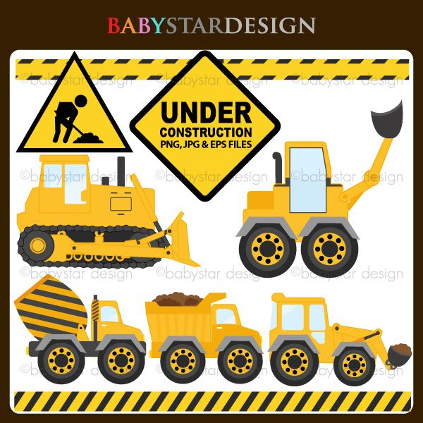 Under Construction - clipart for invitations, card making, web design, stickers and more.