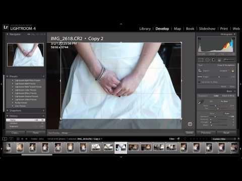 how to make a crop preset in lightroom