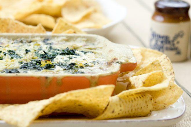 Art Warm Kale Artichoke Dip. Vegan Gluten-Free plant-based-diet-recipes