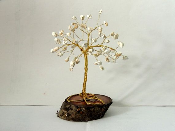 Check out this item in my Etsy shop https://www.etsy.com/listing/248426940/white-turqoise-gemstone-wire-tree
