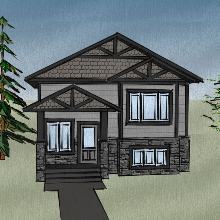 addition plans for bi level home JH201123