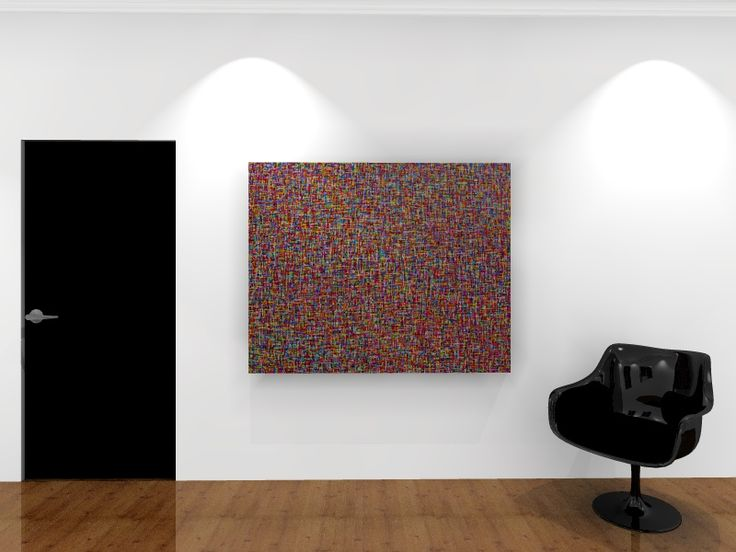 Large and colourful original abstract painting - acrylic on canvas