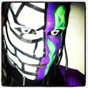 how to make jeff hardy face paint
