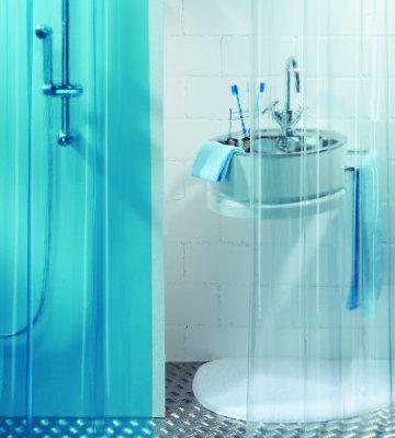 Spirella Plastic Transparent Shower Curtain, 180 x 200 cm