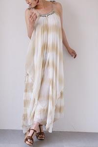 Mes demoiselles summer dress メドモワゼル タイダイシフォンサマードレス