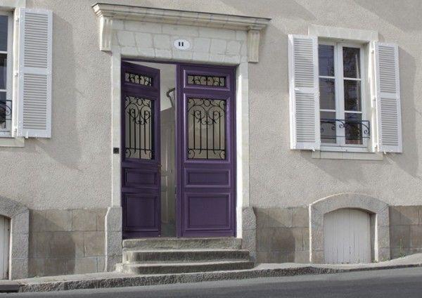 Porte d'entrée Estampe bois classique mi vitrée du fabricant Bel'M