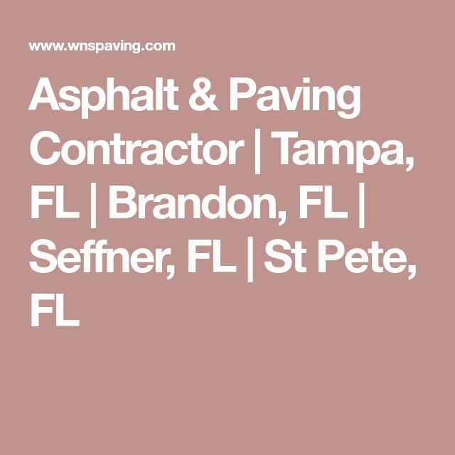 Asphalt & Paving Contractor | Tampa, FL | Brandon, FL | Seffner, FL | St Pete, FL