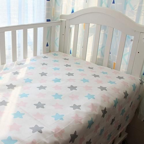 Baby Star Bed Sheet  Buy it from our website 😀  http://presentbaby.myshopify.com/products/kawaii-infant-bed-sheets-for-baby-100-cotton-bed-sheets-cloud-star-pattren-9designs-in-stock-free-shipping-1pcs?utm_campaign=social_autopilot&utm_source=pin&utm_medium=pin    baby romper long sleeve, baby romper fall, baby romper animal