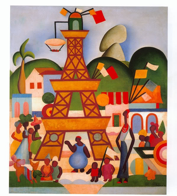 by Tarsila do Amaral, Brazilian Painter  Carnaval em Madureira -1924  Óleo/tela  76 X 63 cm  Colecção particular