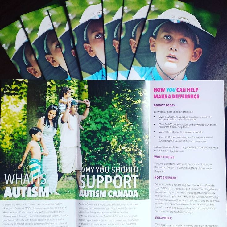 """New brochures are in stock  We have two brochures: 1) """"Autism Canada"""" explains autism our national initiatives and how to get involved and 2) """"Is This Your Child?"""" explains the spectrum characteristics and treatment/therapies. Email chantale@autismcanada.org if your organization school or workplace could use brochures on this content."""