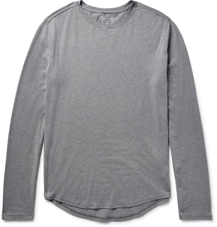 Under Armour Sportswear Highline Stretch Cotton and Cashmere-Blend Jersey T-Shirt
