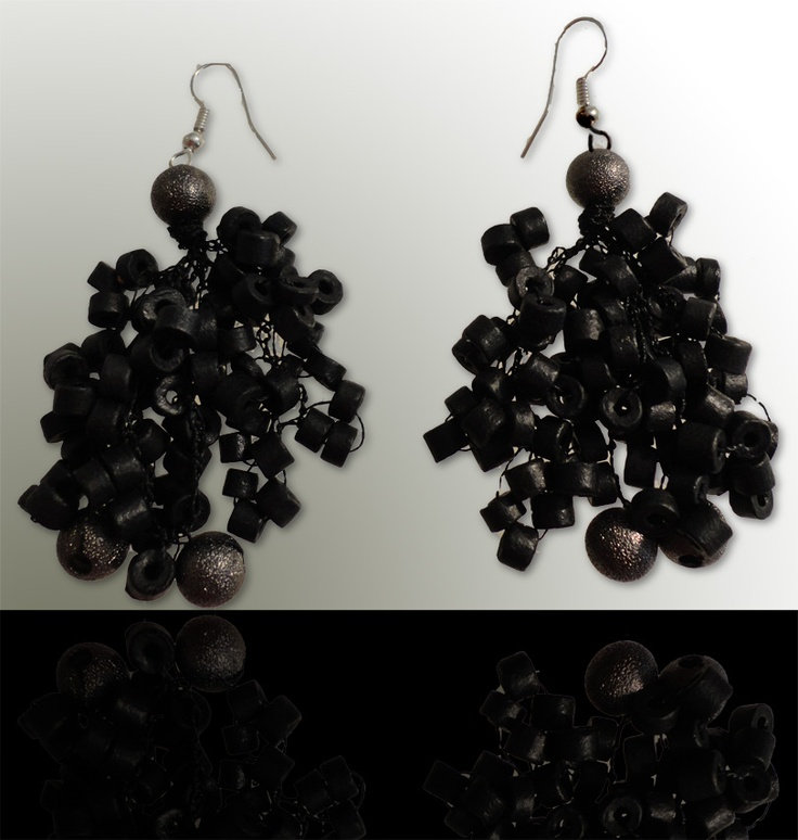 Dark-silver: Wear these handcrafted earrings by BRizzy with a feminine glamour accented the elegance.