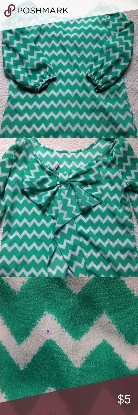 Boutique Chevron Top! Bought at a boutique, has been worn a few times. Does have a pen stain but is barely noticeable when worn. Everything in my closet needs to go asap, everything is on sale!! Tops