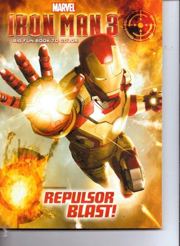 Marvel Iron Man 3 Big Fun Book to Color  Repulsor Blast @ niftywarehouse.com #NiftyWarehouse #IronMan #Iron-man #Marvel #Avengers #TheAvengers #ComicBooks #Movies
