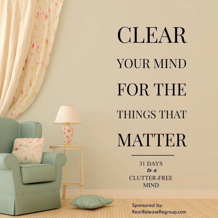 31 days to a clutter-free mind challenge for distracted moms; ideas on how to eliminate distractions and get free from cell phones or other time-wasters.