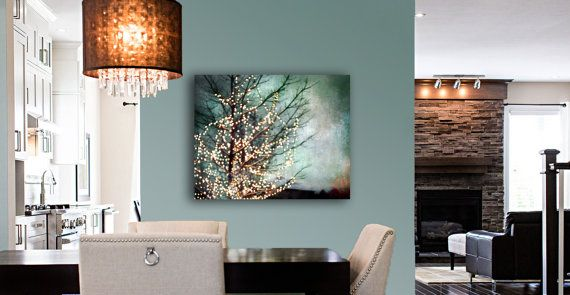 Large Abstract Canvas Art Teal Wall Art Canvas Gold by Raceytay