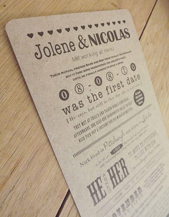 Custom Our Story Ceremony Programs by BrossieBelle