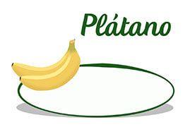 Cartel de precios para los plátanos. Frutería