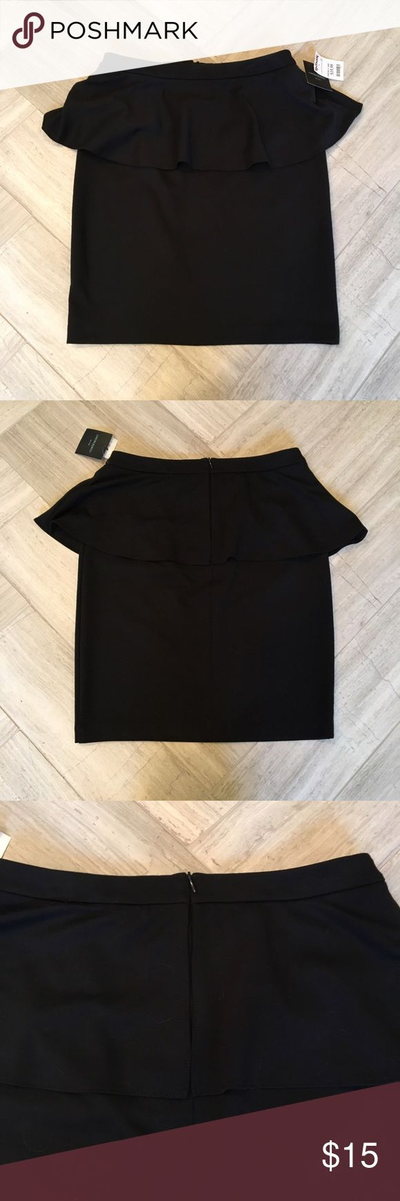 Cynthia Rowley Peplum Skirt Super cute and simple black peplum skirt, NWT. Very soft and stretchy fabric. Perfect with a blouse for work! Cynthia Rowley Skirts