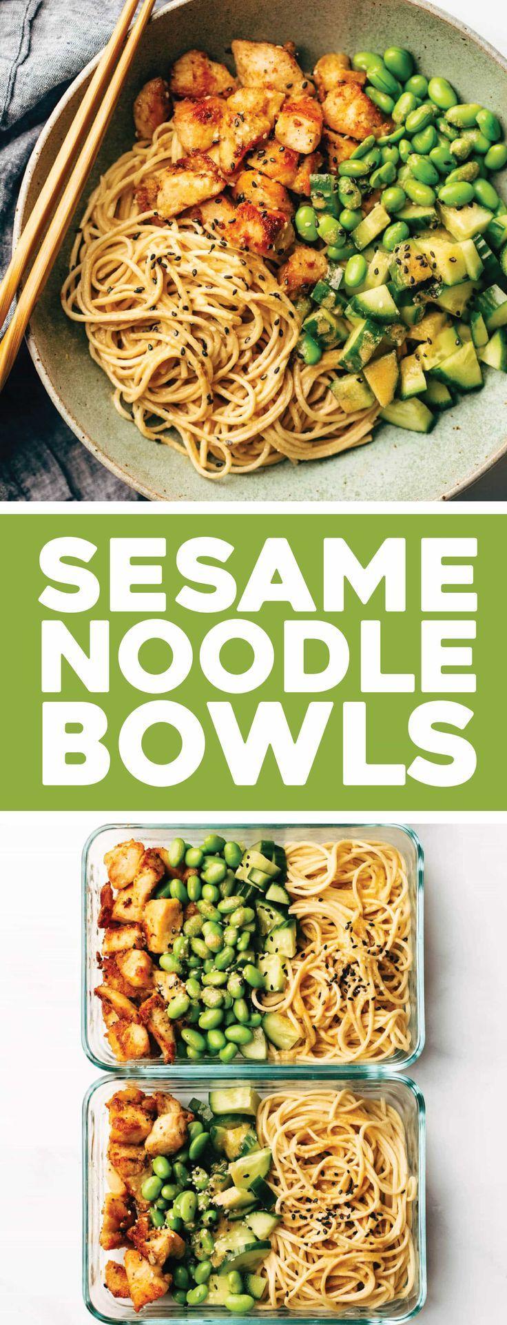 15 Minute Meal Prep: Sesame Noodle Bowls