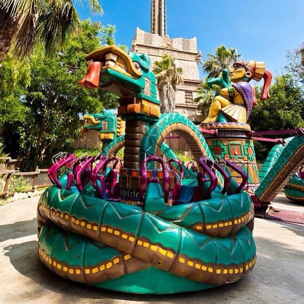 "Port Aventura, Reus, Spain | ""Serpiente Emplumada"" - Feathered Serpent Ride - ""Пернатый Змей"" | http://www.portaventura.com/"