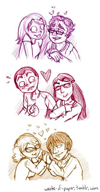 Big Bang Couples-- Penny & Leonard... Amy & Sheldon...   Bernadette & Howard