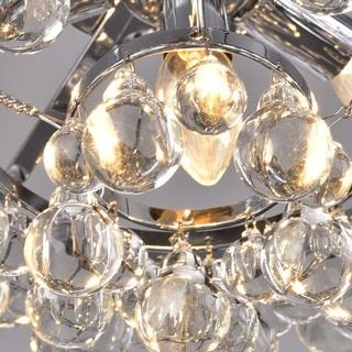 Tranquil Crystal Bubble and Chrome Flush-mount Chandelier - Free Shipping Today - Overstock.com - 14973841 - Mobile