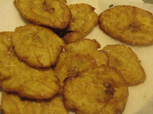 Tostones De Platano (Plantain Fritters)