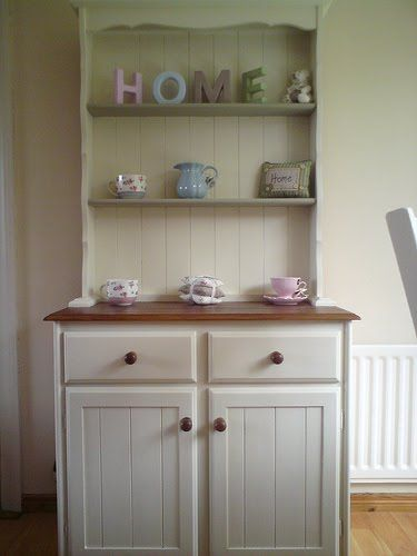 welsh dresser - My next DIY project.....old pine dresser painted in a beautiful shabby chic country cottage paint and lots of beautiful ornaments. Can't wait!