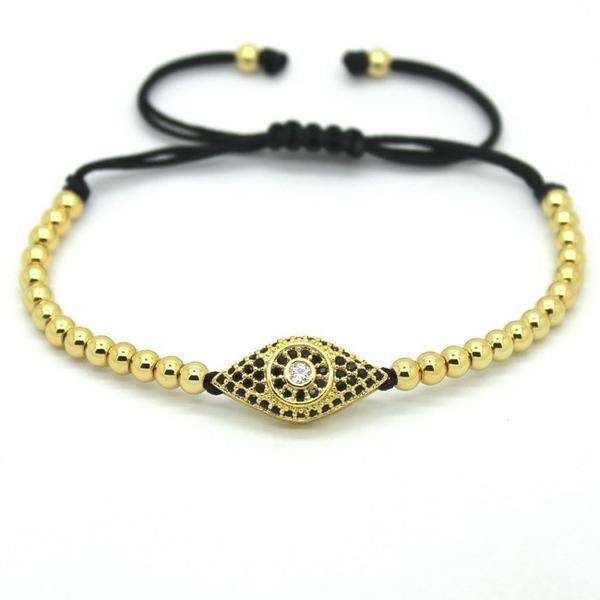 Eye Beaded Macrame Bracelet - Elegant Sequence