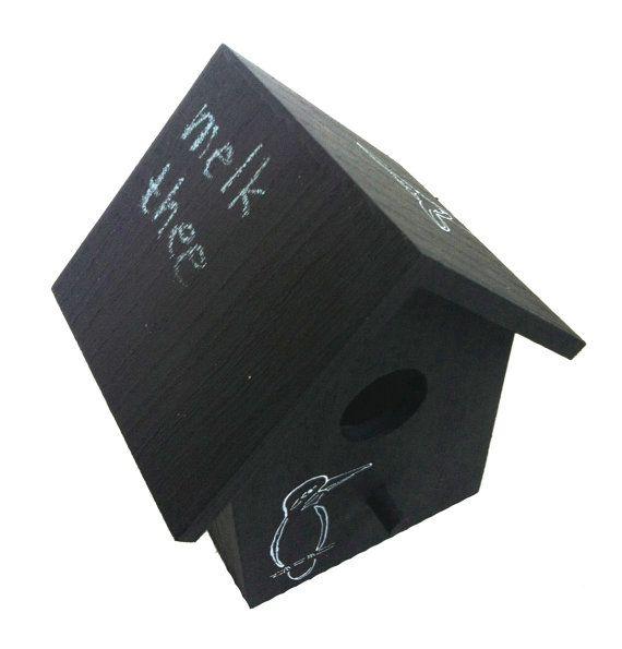 Sleutelkastje. Vogelhuisje krijtverf beschilderd laat door MOCreatie