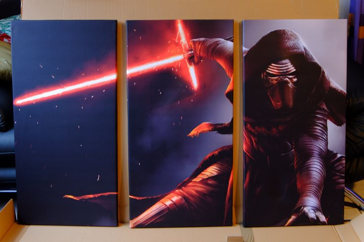 Star Wars 7 Force Awakens: 3 teilige XXL Leinwand