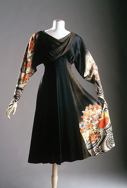 Dress Dress Designer: Elizabeth Hawes (American, Ridgewood, New Jersey 1903–1971 New York) Date: ca. 1935 Culture: American Medium: Silk