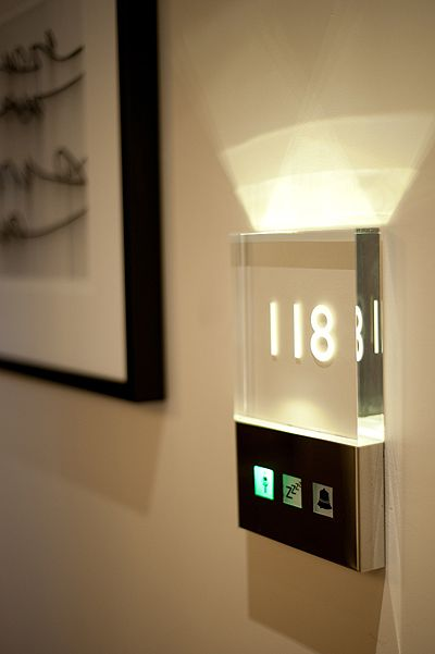 One of our key products at Jona Hoad Design is the illuminated hotel room number. - Image - Design Build Network
