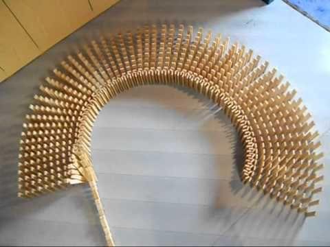 kapla domino - mooie cirkelvorm