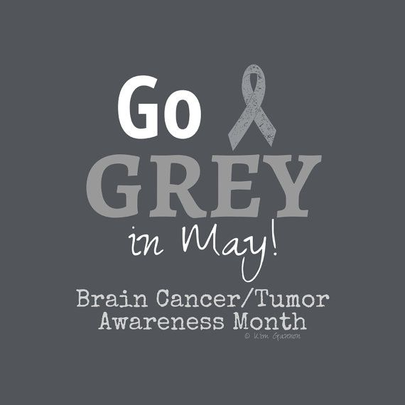 Go grey in may. Brain cancer/tumor awareness month. Grey Nation. Team Beth.