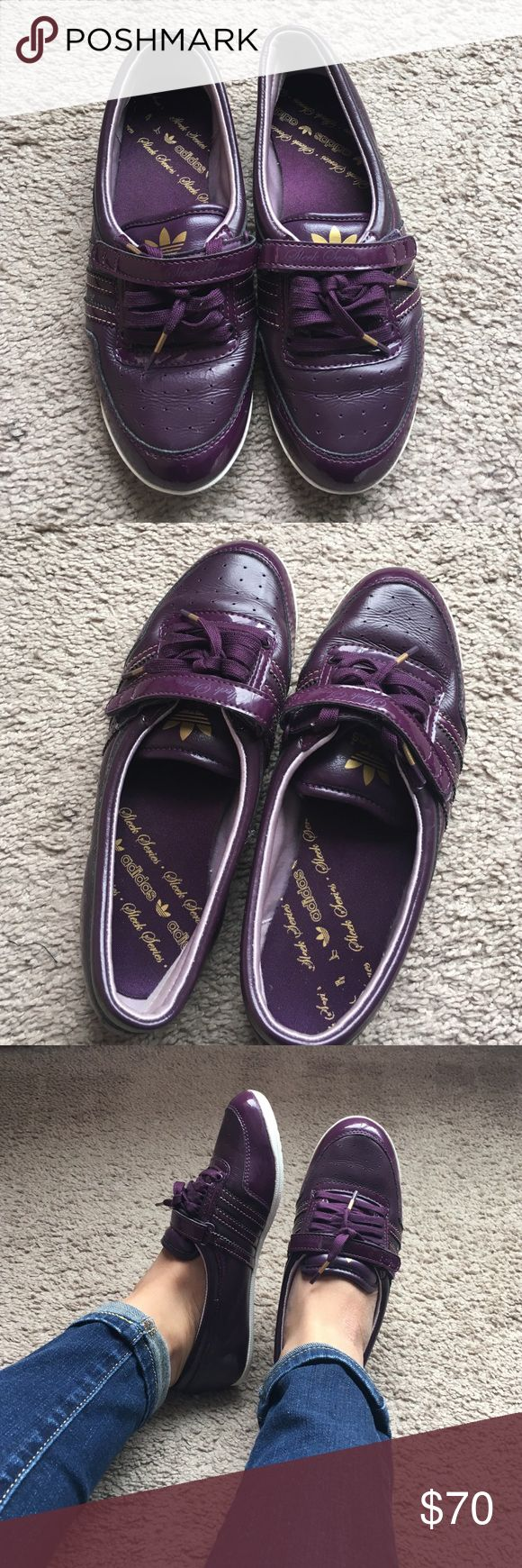 Adidas Sleek Series shoes WOMENS ADIDAS CONCORD ROUND W SLEEK SERIES PURPLE SHOES. Adjustable front. Wore only twice, in great condition Adidas Shoes Flats & Loafers