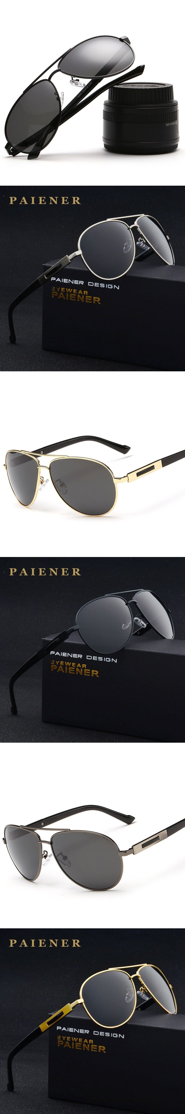 2017 Hot Selling Fashion Polarized Outdoor Driving Sunglasses for Men women glasses Brand Designer with High Quality 4 Colors