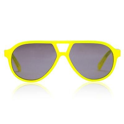 Neon Yellow Rocky Sunglasses by Sons + Daughters Eyewear - Junior Edition