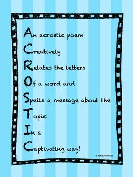 how to write an acrostic poem mariana